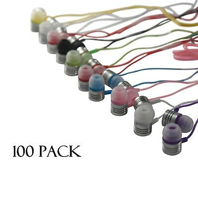 JustJamz Jelly Matte In-Earbud Headphones 3.5mm Stereo Multi-Color (100 Pack)