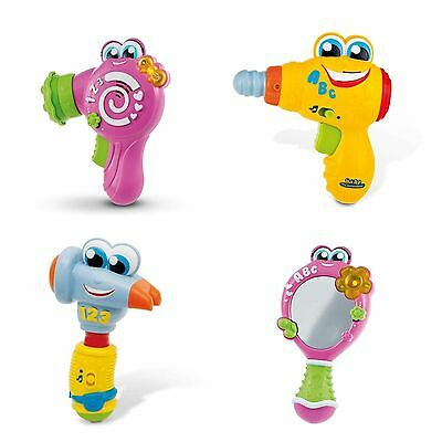 Baby Toy Rattle Mirror Hairdryer Hammer Or Drill By Clementoni Child Toy NEW