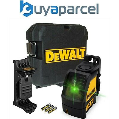 Dewalt DW088CG Green Cross Line Laser Level Self Levelling – Includes Bracket