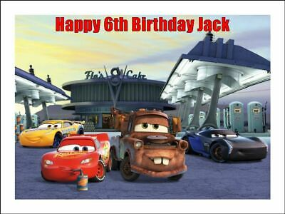 CARS 3 A4 Cake Topper Edible Icing Image Birthday Party Decoration 2