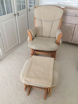 Dutailer Nursery/Rocking Chair With Footstool  And Blanket