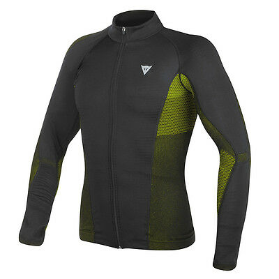 Dainese D-Core No Wind Dry LS Black / Fluo Yellow Tee Base Layer | All Sizes