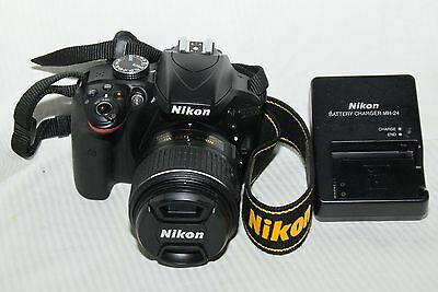 Nikon D3300 24.2 MP Digital SLR Camera, Black, w/ AF-S DX 18-55mm VRII Lens