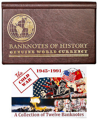 The Cold War: 1945-1991 12-Banknote Collection Album with COA SKU47171