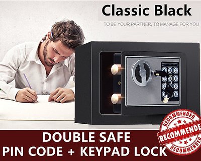 Portable Lockable Security Safe Box Password Cash Jewelry Safe Box Office Home