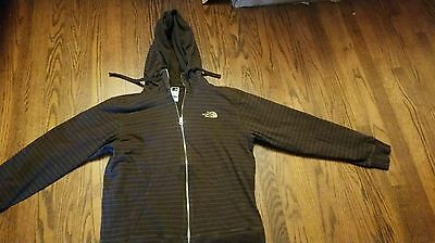 The North Face Men's Full Zip Striped Hoodie Sz L