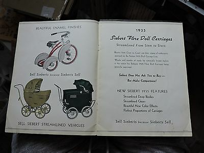 Rare 1935 Siebert Ad Catalog Book Doll Carriage & Bicycles ! Scooter +Velocipede