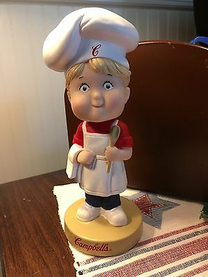 2002 Campbell Soup Bobble Head Doll  6 Inches Tall Excellent Cond
