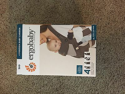 ErgoBaby 360 Four Position Cool Air Mesh Carbon Grey Baby Carrier NEW IN BOX