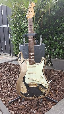 "John Mayer""Black one"" Tribute Stratocaster custom made."