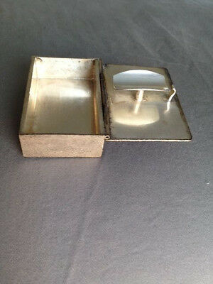 Antique silver ash tray box to go from France