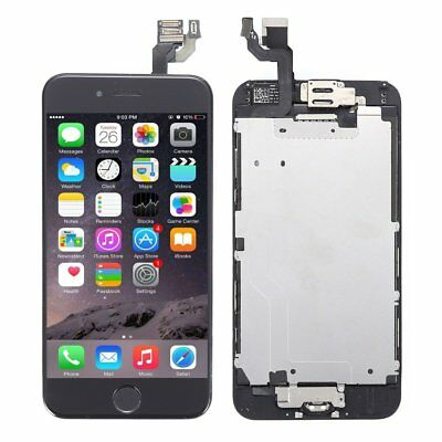 """For iPhone 6 4.7"""" Complete Touch Screen Replacement LCD Digitizer + Button Black"""