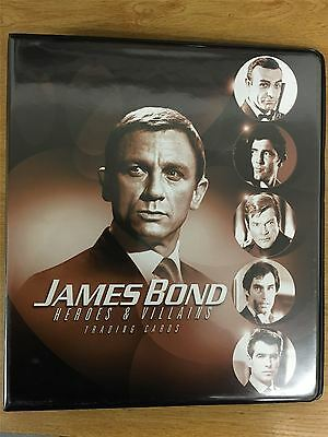 James Bond Heroes And Villains Official Rittenhouse Binder