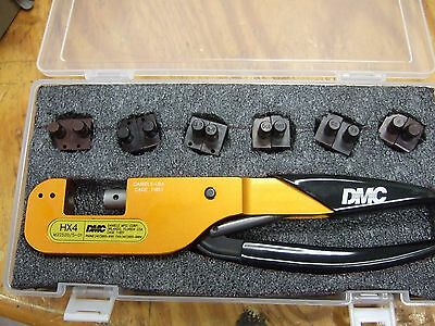 Dmc Daniels Hx4 M22520/5-01 Crimper With Six Dies Aircraft Crimp Tool Crimping