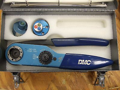 Daniels dmc M22520/1-01 AF8 crimper 2 turrets crimp tool milspec contacts
