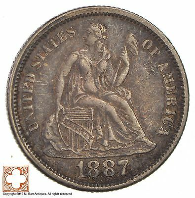 1887 Seated Liberty Silver Dime *2830