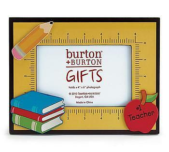 "#1 Teacher Wooden Picture Frame for 4x6"" Photo"