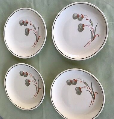 Paden  City Pottery Co Made In USA Set Of 4 Bread & Butter Plates