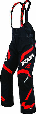FXR Mens Black/Red Team FX Insulated Snowmobile Pants Snow Snocross