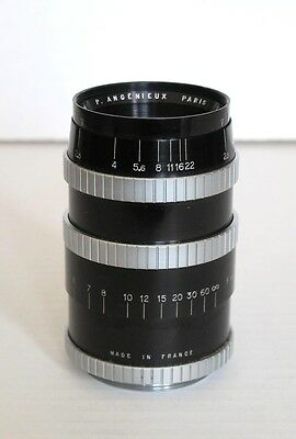 EX  Angenieux 90mm F2.5 Y12 Lens w/ Leica SM, Leather Hard Case, 2 Caps, BEAUTY!
