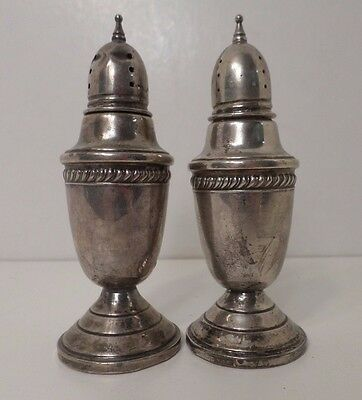 Hamilton Sterling Hollowware Sterling Weighted Salt & Pepper Shaker Set
