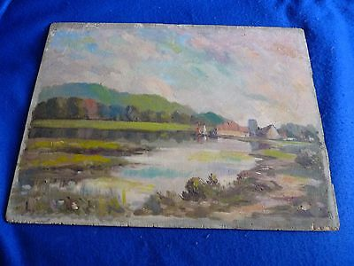 Antique impressionist oil painting on board – French ? - Monet follower