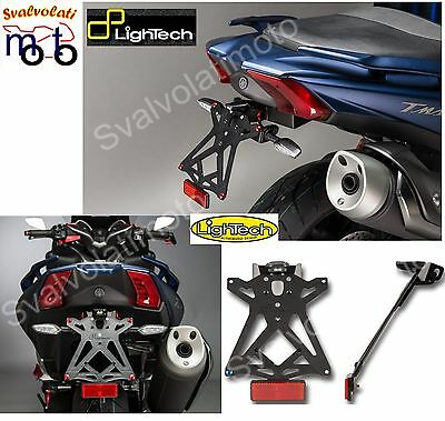 Kit Porta Targa Regolabile+Catadiottro Lightech Ktarya124 Yamaha Tmax Sx Dx 2017