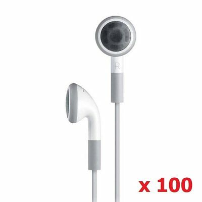Wholesale 100 Pack Disposable Simple White Earphones Headphone Headset