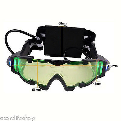 LED Night Vision Goggles with Flip-out Lights Night Vision for Night Activities