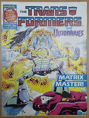 Transformers UK Comic Issue 187 With Panini Action Force Stickers