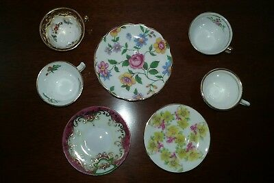 LOT Of Miscellaneous MINIATURE Cup and Saucer Pieces (NOT SETS) England & Japan