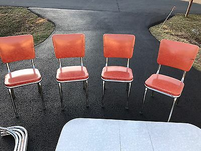 VINTAGE WALTER OF WABASH 1952 chrome retro extendable table and 4 chairs!