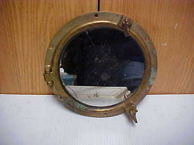 """Great Boat, Ship Brass Or Bronze Porthole  Mirrored Glass 8"""" Round Nautical"""