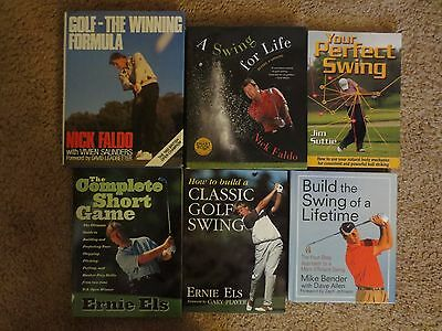 Golf Book Lot - Faldo, Ernie Els, Mike Bender Build The Swing of a Lifetime
