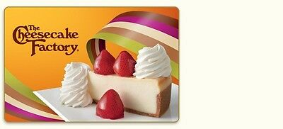 The Cheesecake Factory gift card-$80.00