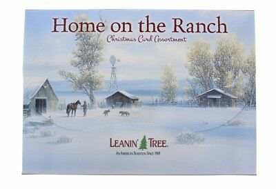 Leanin Tree Christmas 20 Cards Box Set HOME ON THE RANCH