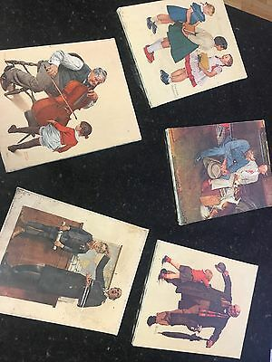 1972 Norman Rockwell canvas prints - 4 out of 5 still have plastic wrapping
