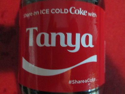 LIMITED EDITION 2017 Share a Coke with Tanya-20 oz Collectible Coca-Cola Bottle