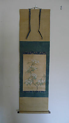 Beautiful old Chinese or Japanese scroll painting on paper