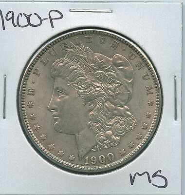 1900-P Morgan Dollar Uncirculated US Mint Silver Coin Unc MS