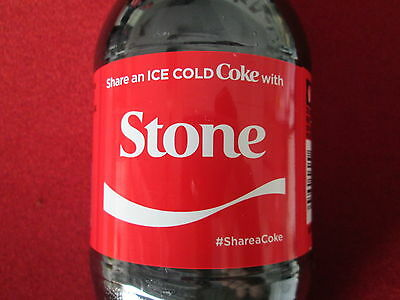 LIMITED EDITION 2017 Share a Coke with Stone-20 oz Collectible Coca-Cola Bottle