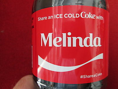 Brand New 2017 Share a Coke with Melinda-20 oz Collectible Coca-Cola Bottle-HTF