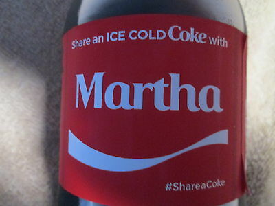 LIMITED EDITION 2017 Share a Coke with Martha-20oz Collectible Coca-Cola Bottle