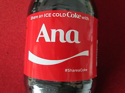 LIMITED EDITION 2017 Share a Coke with Ana-20 oz Collectible Coca-Cola Bottle