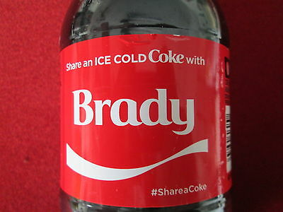 LIMITED EDITION 2017 Share a Coke with Brady-20 oz Collectible Coca-Cola Bottle
