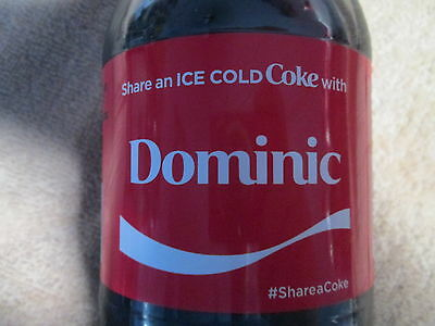LIMITED EDITION 2017 Share a Coke with Dominic-20oz Collectible Coca-Cola Bottle