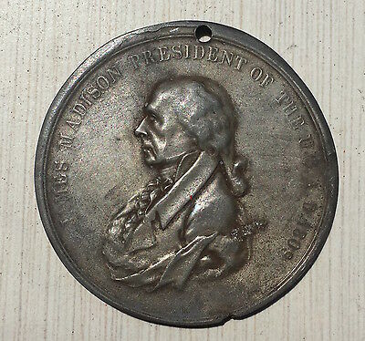 James Madison - Piece And Friendship -  Old Medal
