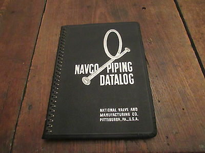 1950 Navco Pipe Catalog Datalog Refinery Railroad Pulp Textile Mill Industry