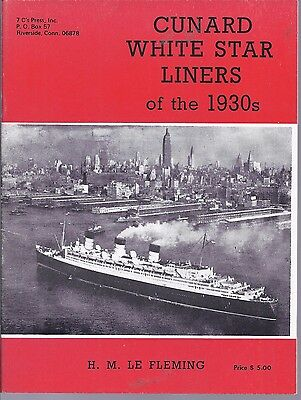 Fleming CUNARD WHITE STAR LINERS of the 1930s PB