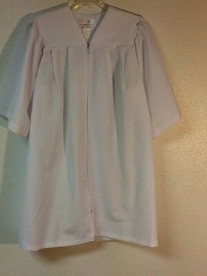 Rose Therese Gown Co.,Graduation/Choir Robe,White,cut to fit 6-8yr. old,Short